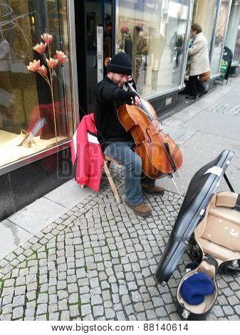 Street Cello Player