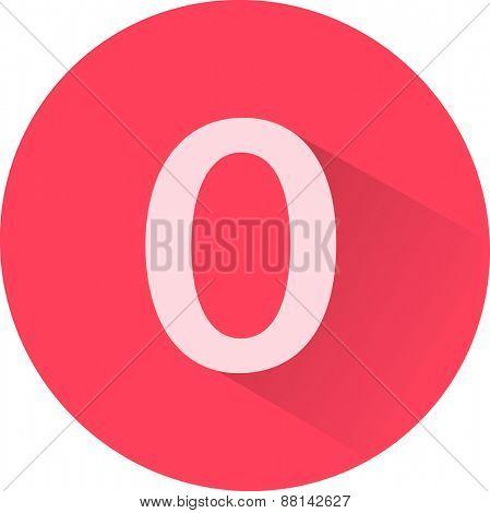Number 0 on white background. Vector illustration