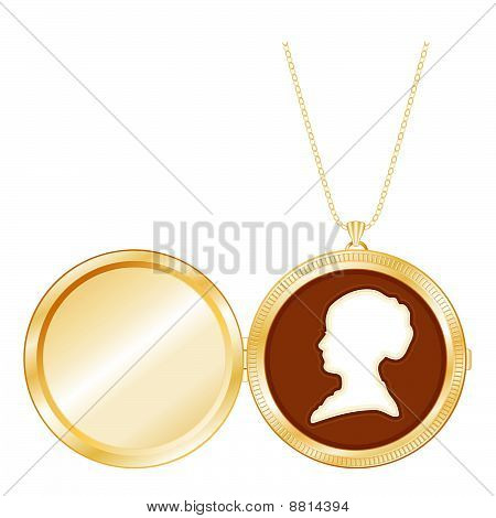Lady's Cameo Locket