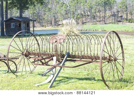Old farm tool