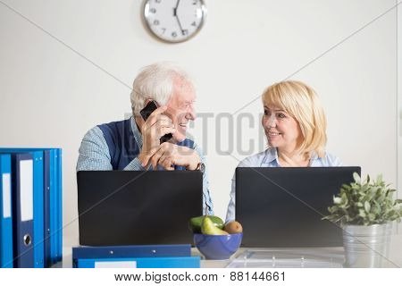 Elderly People Running A Company