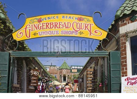 Way In To Gingerbread Court Of Shops