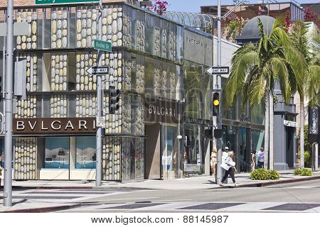 Rodeo Drive Street In Beverly Hills