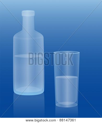 Water Bottle Glass Drink