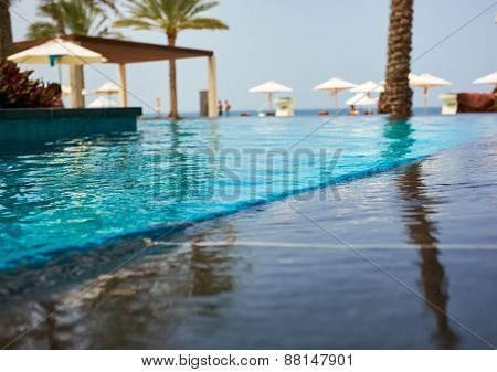 Luxury swimming pool a tropical resort