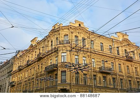 Old House Building In The Saint-petersburg, Russia