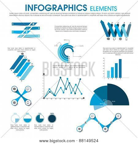 Different elements set of infographics for professional presentation and business reports.