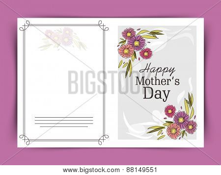 Elegant greeting or invitation card for Happy Mother's Day celebration.