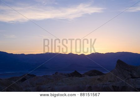 Sunset At Zabriskie Point In Death Valley
