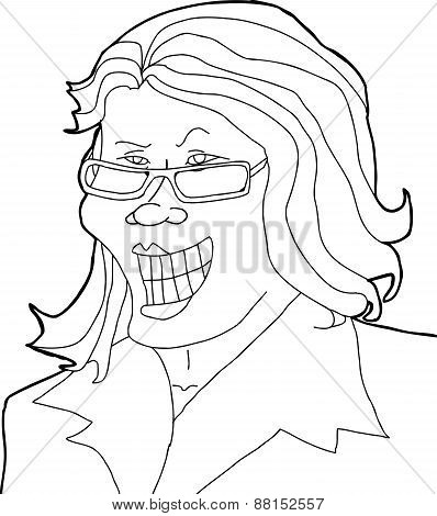 Outlined Businesswoman
