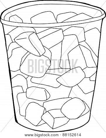 Cup Of Melon Pieces