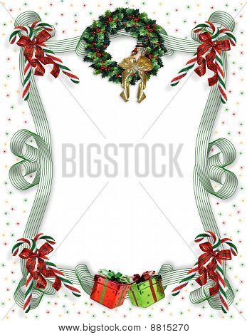 Christmas border traditional