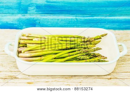 Asparagus in the kitchen