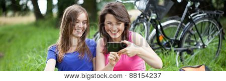 Girls With Smartphone
