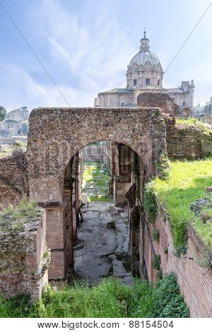 Roman Ruins - Imperial Fora, Rome (italy)