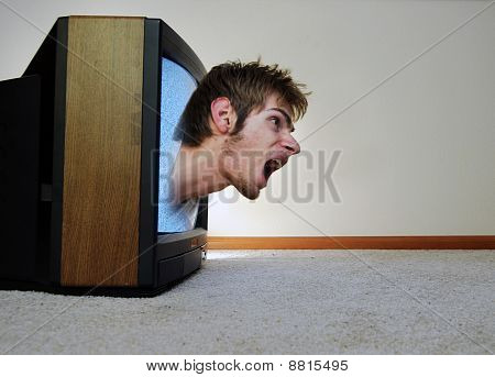 Trapped Inside Of The Tv