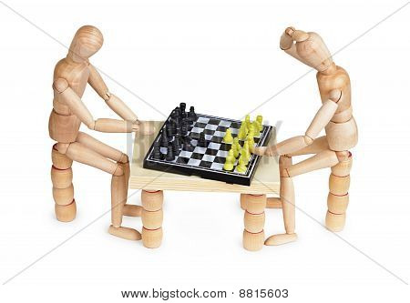 Toy People Play Chess