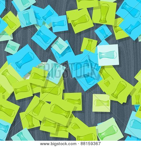 Abstract Background With Scattered Glasses Of Beer Motif