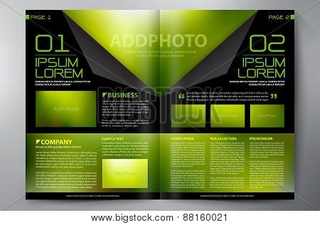 Brochure Design Two Pages A4 Template