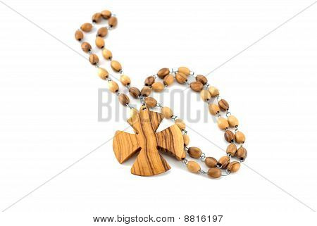 rosary isolated on white
