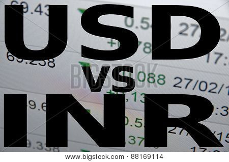 US dollar versus Indian rupee