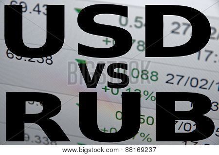US dollar versus Russian ruble