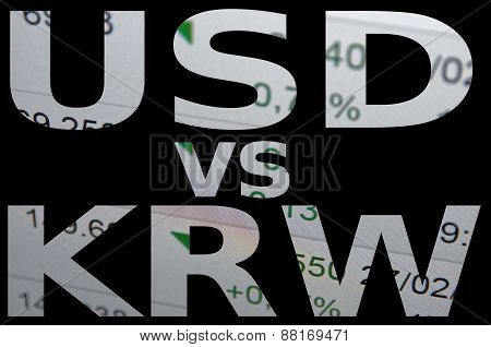 US dollar versus South Korean won