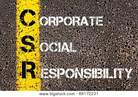Business Acronym Csr - Corporate Social Responsibility