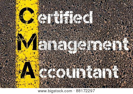 Business Acronym Cma - Certified Management Accountant