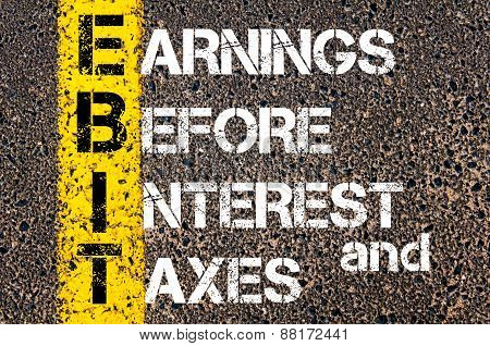 Business Acronym Ebit – Earnings Before Interest And Taxes