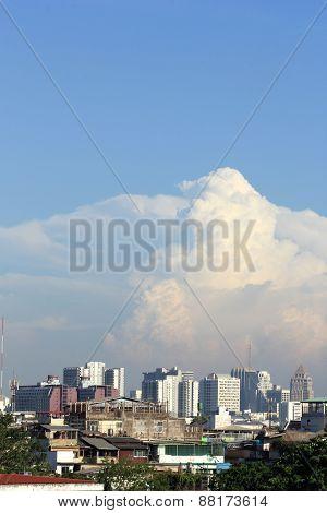 Aerial View City in Bangkok