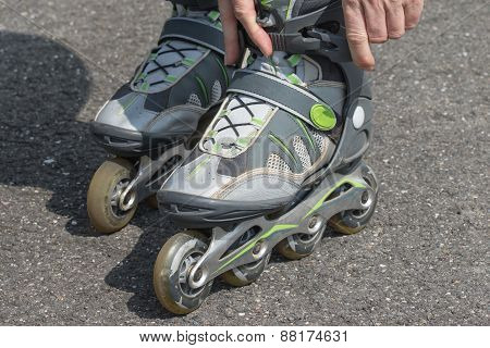 Putting On The Rollerblades