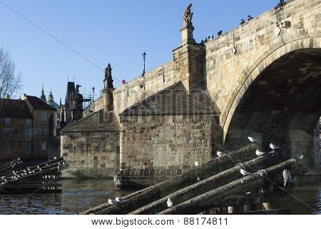 Charles Bridge in Prague. Czech Republic.