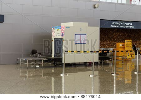 Airport X-ray Scanner Machine At Nan Provine, Thailand