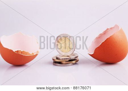 Egg Shell And Money