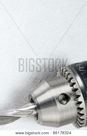 Drill Head With Bit Closeup