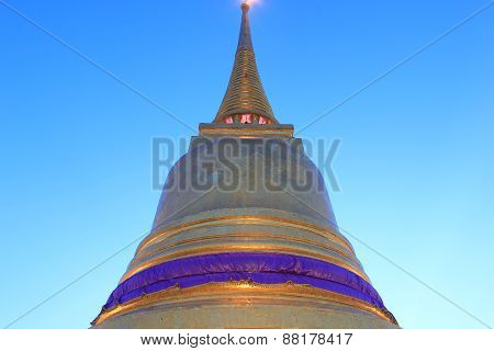 Golden Pagoda at Wat Saket Temple in Bangkok