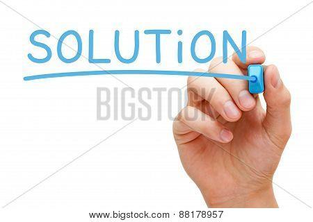 Solution Blue Marker