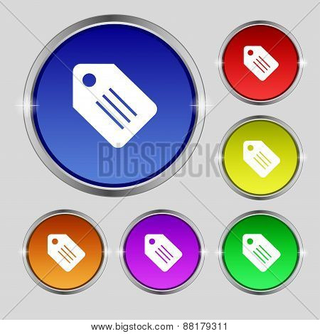 Special Offer Label Icon Sign. Round Symbol On Bright Colourful Buttons. Vector