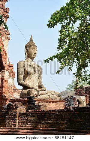 Buddha Statue In Mahathat Temple, Ayutthaya