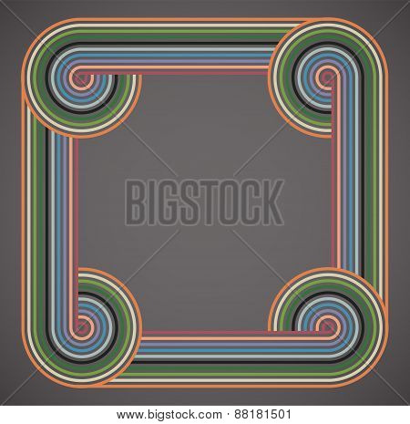 Abstract colorful lines on gray background.