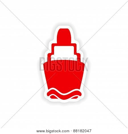 icon sticker realistic design on paper lighthouse