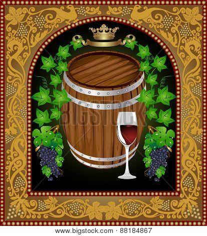 Beer Banner Barrel Advertising Wine