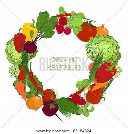 Wreath From Fresh Raw Vegetables