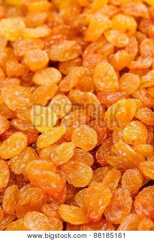 Tasty Golden Dried Raisins Heap