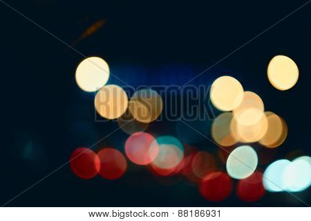 Defocused abstract lights christmas background. Festive Lights B