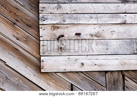 Old planks with a lot of copyspace, blank natural banner