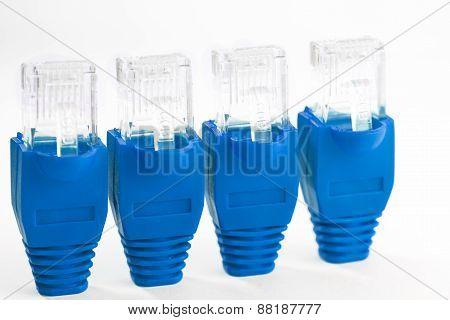 Rj45 - 4  Blue Plugs