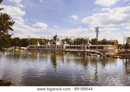Budapest, Hungary - June 27, 2015: City Park (varosliget) Is A Public Park In Budapest, Hungary Clos