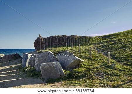 Green Hill Near The Sea